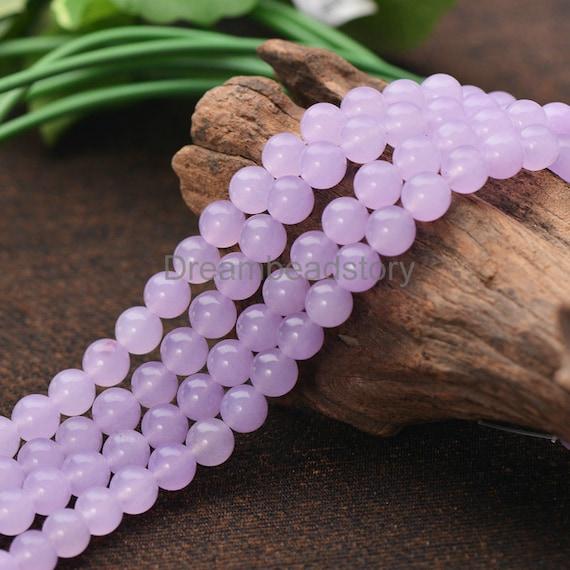 Lavender Color Soft Purple Chalcedony Semi Precious Stone 4 6 Etsy