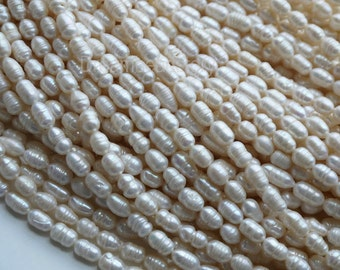 Oval Pearl Beads with Swirl, Cheap Pearl Beads, 2-3mm 6-7mm Rice Shape Pearls, Rice Pearl Beads in Bulk Supplies