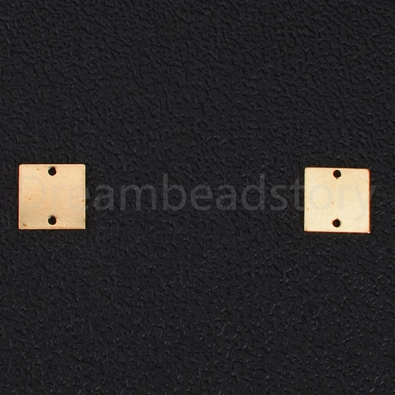 Square Cubic Post Earring 925  Silver Post EC267-PR-CR Polished Original Rhodium Plated  2 Pcs Wedding Bridal Jewelry