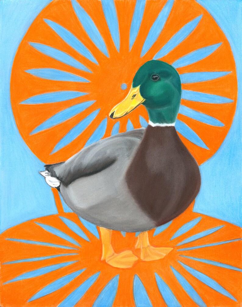 Duck Art Print Memorial Union Terrace Mallard Duck Art  UW image 0