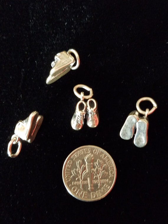 Sterling Silver 3D Baby Shoes Charm