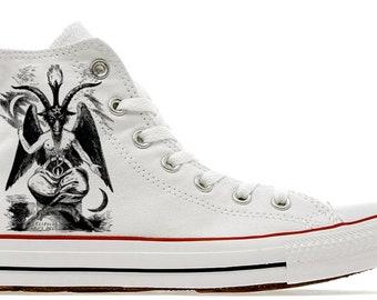 a8abe1145cc870 Illuminati masonic Baphomet Mason 33 degree 1776 as above so below custom  printed converse shoes gift fashion cult goth