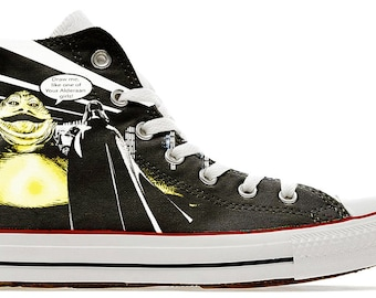 354f9cdb6250 Draw me like one of your Alderaan Girls - Darth wars comic star custom  printed genuine converse shoes sneakers trainers