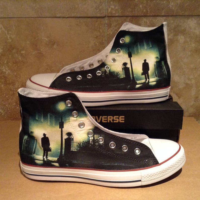 b104236a9fc86b Exorcist horror scary cult movie design custom converse high