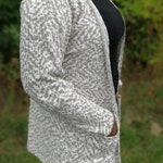 Redish and Beige Seasonal Cardigan