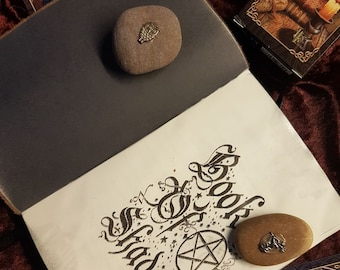 Book Of Shadows, Brown Leather Book, 180+ Pages, Info, Spells Etc. Pagan Wiccan