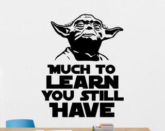 Baby Yoda D Star Wars Jedi Wall Poster Art Vinyl Autocollant Chambre Voiture Van Autocollant