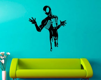 Venom Wall Decal Venom Vinyl Sticker Superhero Wall Stickers Home Art Decor (1vm)