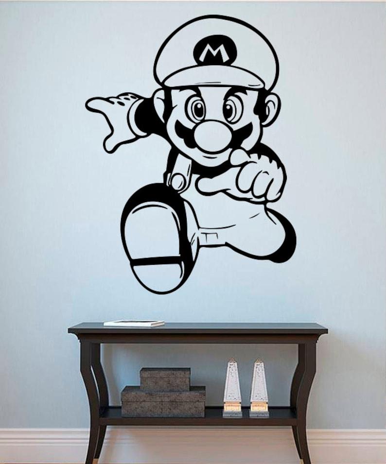 Adesivi Murali Super Mario.Super Mario Vinile Adesivi Murali Stickers Home Art Decor Di Gioco Di Mario Wall Sticker 6mo