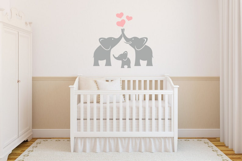 Elephant Family Wall DecalNursery Wall Decal Trunks of Love image 0