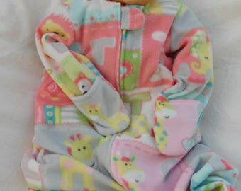 BABYS FLEECE SLEEP Sack -- with or without attached mittens -- available in  S,M,L or X-L