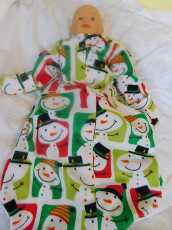 4d2422148 BABY SLEEP SACK -- Fleece with mittens -- Large only