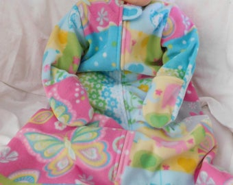 BABYS FLEEC SLEEP Sack -- Large Only with Mittens