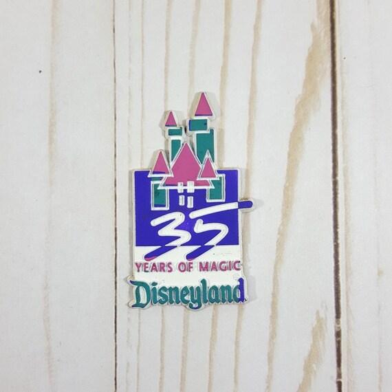 Vintage Disneyland Magnet 35 Years Of Magic Anniversary Etsy