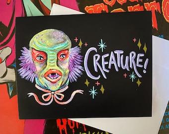 CREATURE! - Halloween Hunk Greeting Card