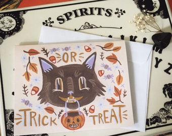 Trick or Treat - Classic Halloween Greeting Card
