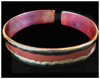 Cuff Bracelet | Modern Boho | Copper Cuff Bracelet | Maroon Red Slim Cuff | Slim Cuff Copper Bracelet | Copper Bangel #carefreejewelry