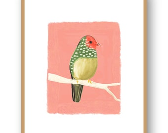 38f9bc81882 Australian Star Finch Art Print  Small Bird Home Decor  Animal Illustration Wall  Art  Girls Bedroom Giclee Print