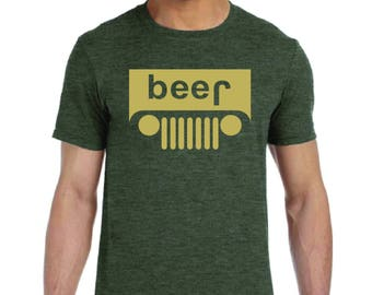 1f9b37e7c Jeep Beer Funny T shirt S - 2XL