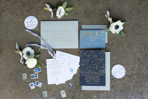 constellation invitations celestial invitation suite over etsy