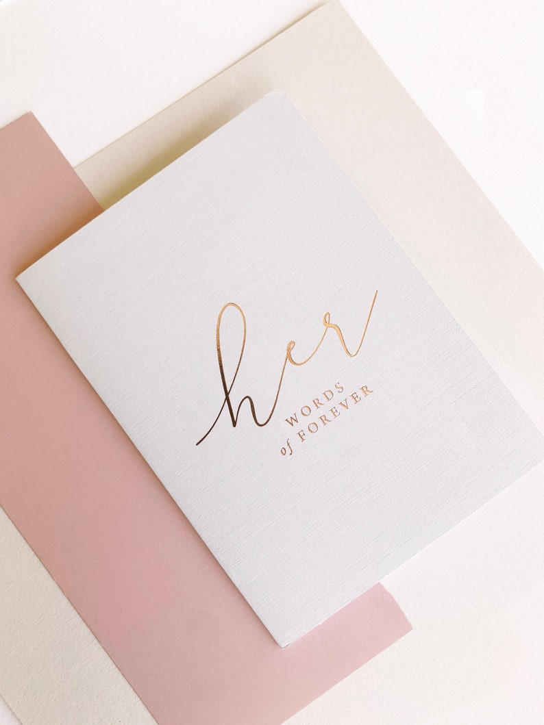 Wedding Vow Booklets His & Her Vow Booklets Foil Vow image 1