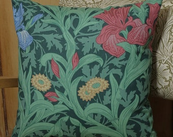 William Morris Double Sided Iris Cushion Cover
