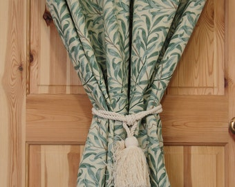 William Morris Willow Bough Portiere Door Curtain With Velvet Lining