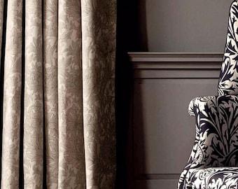 Morris & Co Chrysanthemum ToileLinen Curtains