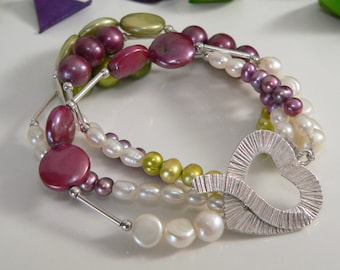 Freshwater Pearls and Sterling Silver.