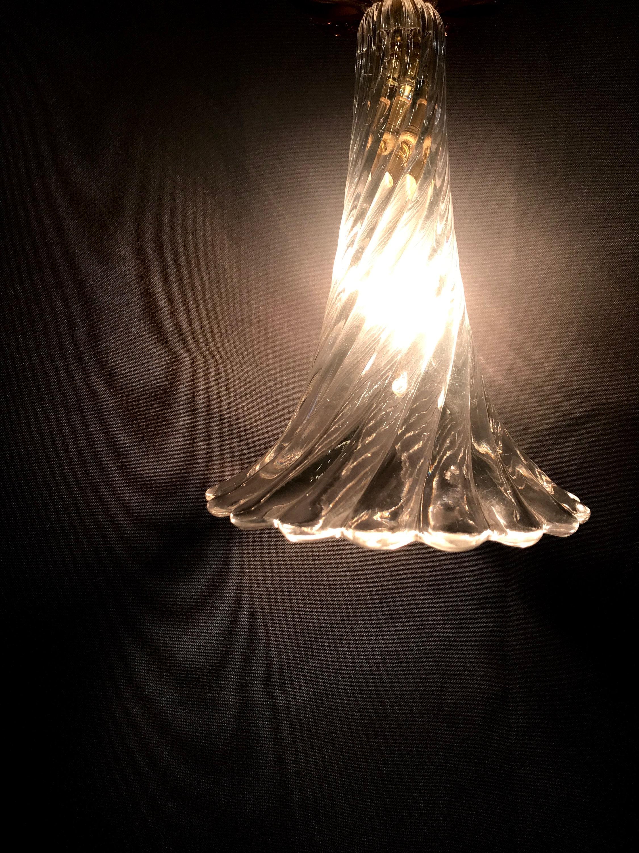 Lampada A Sospensione Realizzata Con Vetro Di Cristallo