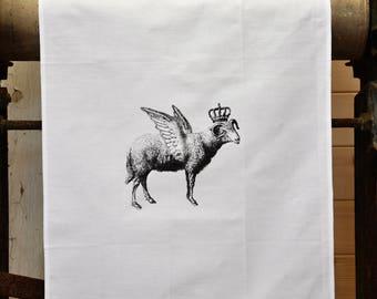 Tea Towel - The 'Royal Collection' - Flying Sheep