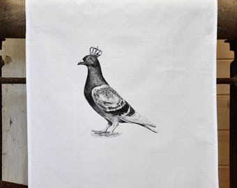 Tea Towel - The 'Royal Collection' - Pigeon