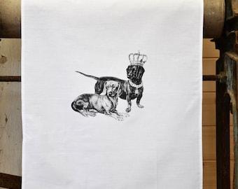 Tea Towel - The 'Royal Collection' - Dachshund