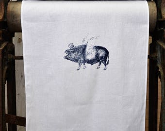 Tea Towel - The 'Royal Collection' - Flying Pig