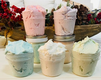 Sugar Scrub - Whipped Sugar Scrub - All Natural Products - 4 ounce size or 8 ounce size