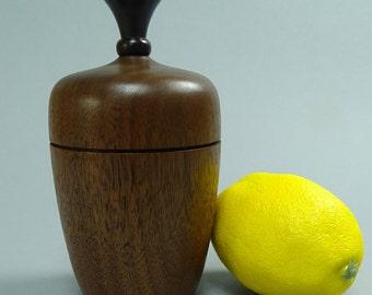 Black Walnut Box with Black Wood Finial