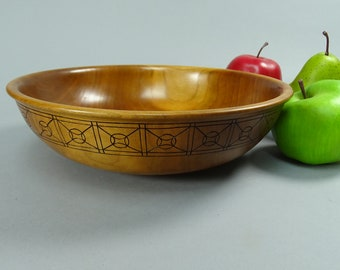 Cherry Bowl with a Burnt Pattern
