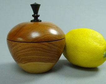 Plum Wood Box with Ebony Finial