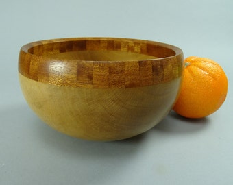Sycamore Calabash Style with a Sapele Segmented ring