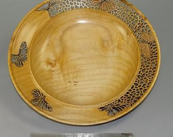 Maple Butterfly Pierced Platter