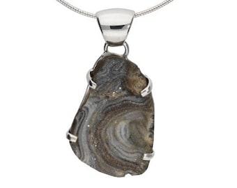 Desert Druzy necklace, druzy pendant,  sterling silver, druzy jewelry, natural druzy, gemstones necklace, gift for her, handmade, raw stone