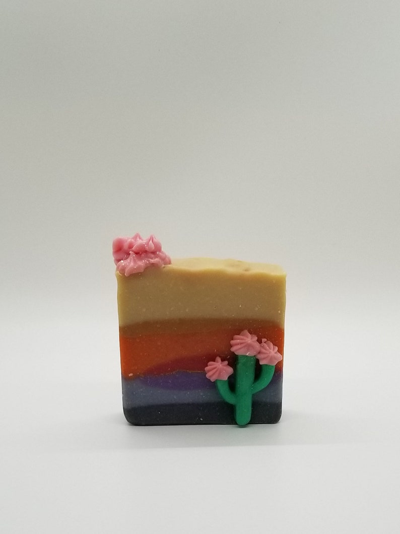 DESERT CACTUS BLOSSOM / ARtisan Soap / Gifts for Her / Cactus image 0