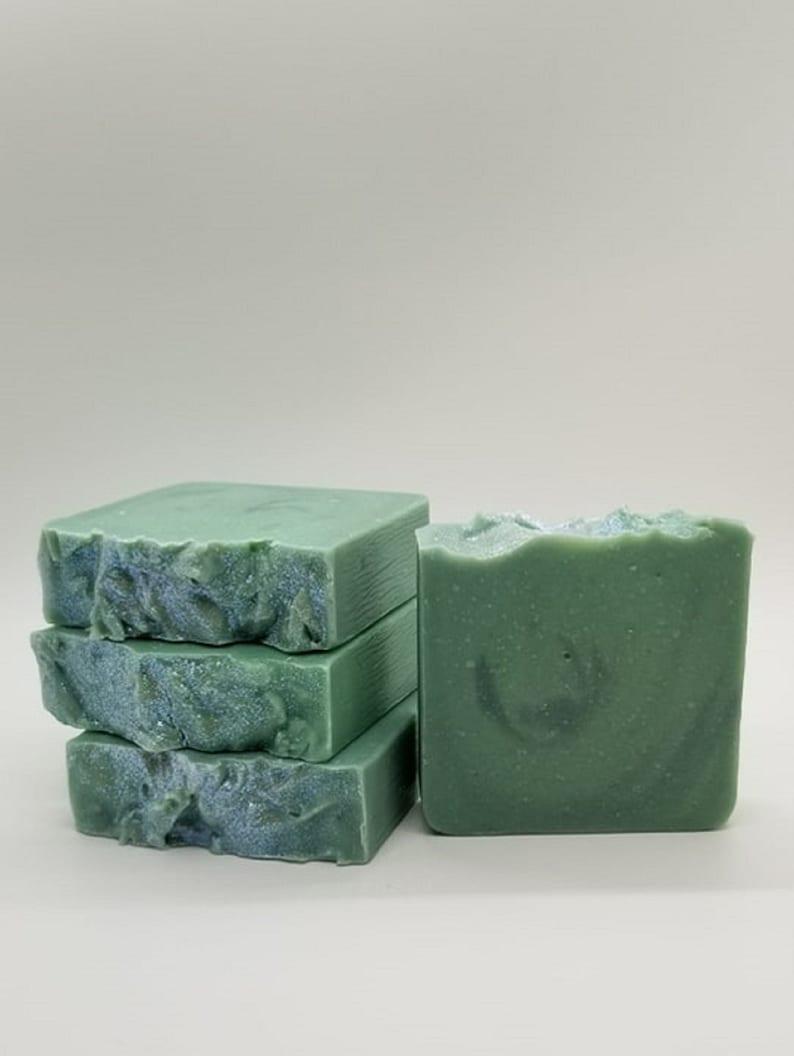 SPEARMINT EUCALYPTUS Artisan SOAP / Handmade Soap / Unique image 0