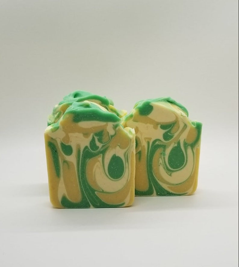 GREEN TEA & LEMONGRASS Soap / Handmade Soap / Hand Crafted image 0