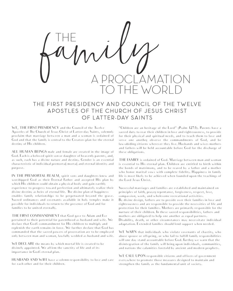 picture about The Family a Proclamation to the World Printable referred to as LDS Household Proclamation in the direction of the Worldwide, Printable History, Electronic Print history, Mormon, Family members Proclamation, Proclamation upon the Family members, Printable