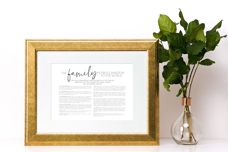 image regarding The Family a Proclamation to the World Printable named LDS Family members Proclamation toward the Earth, Printable Document, Electronic Print record, Mormon, Household Proclamation, Proclamation upon the Relatives, Printable