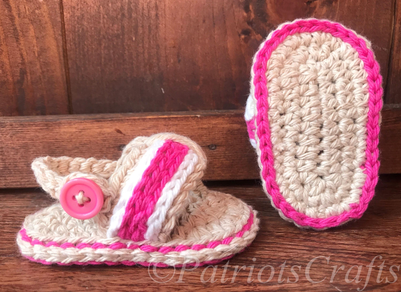 Modern Babyhäkelarbeit Flip Flops Muster Photo - Decke Stricken ...