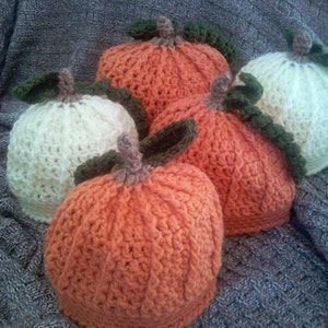 Baby Seasonal Fall Little Orange Pumpkin Beanie Style Hat Photo Prop Costume Hat