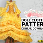 DIGITAL Download Doll Clothes Pattern: Medieval Corset Dress for MH Girls