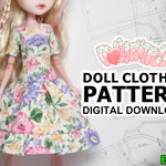 DIGITAL Download Doll Clothes Pattern: Standard Dress for MH + EAH Girls